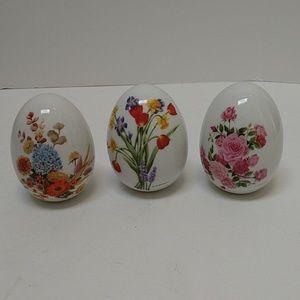 Vintage Avon Porcelain Eggs